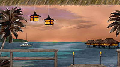 Bali Painting - Days End by Gordon Beck
