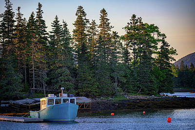 Photograph - Day's End In Bernard Harbor by Rick Berk