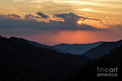 Photograph - Days End In The Smokies - D009928 by Daniel Dempster