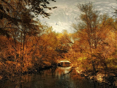 Fall Landscape Digital Art - Day's End by Jessica Jenney
