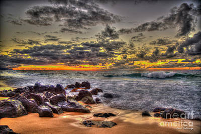 Photograph - Days End North Shore Sunset Oahu Hawaii Art by Reid Callaway