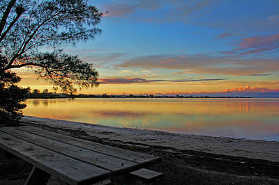 Photograph - Day's End On The Intracoastal  by HH Photography of Florida