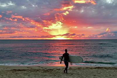 Photograph - Day's End On The North Shore by Jeff Cook