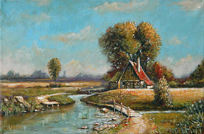 Painting - Days Gone By by Arie Van der Wijst