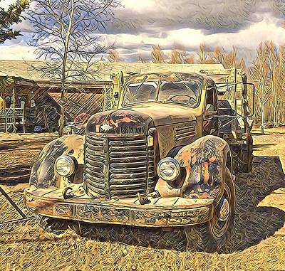 Digital Art - Days Of Old Canol  by Barb Cote
