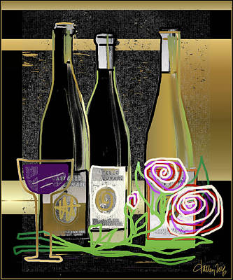 Digital Art - Days Of Wine And Roses by Larry Talley