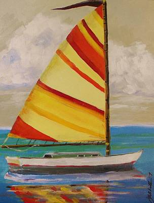 Daysailer By John Williams Art Print