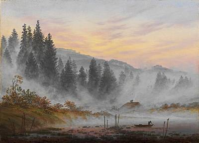 Fog Painting - daytime cycle , The Morning by Caspar David Friedrich
