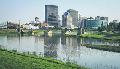 Photograph - Dayton Ohio Skyline Reflection by Dan Sproul