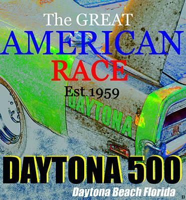 Daytona 500 Historic Art Art Print by David Lee Thompson