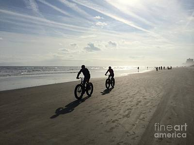 Photograph - Daytona Beach Bikers by Audrey Peaty