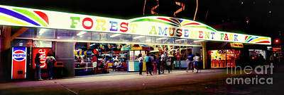 Photograph - Daytona Beach Boardwalk Amusement Florida  0401200017 by Tom Jelen
