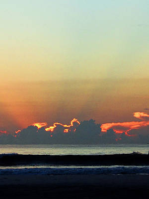Photograph - Daytona Beach Breaking Dawn  by Chris Mercer