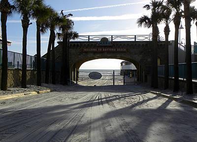 Photograph - Daytona Beach Entrance 000 by Chris Mercer