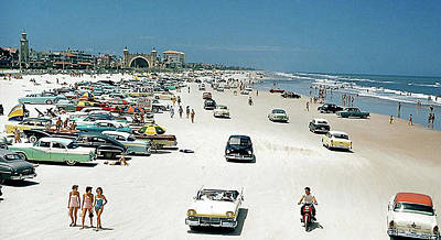 Photograph - Daytona Beach Florida - 1957 by Merton Allen