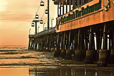 Daytona Beach Pier Art Print by Carolyn Marshall