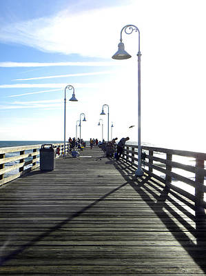 Photograph - Daytona Beach Pier Deck   by Chris Mercer