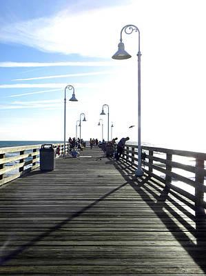 Photograph - Daytona Beach Pier Deck   by Chris Mercer