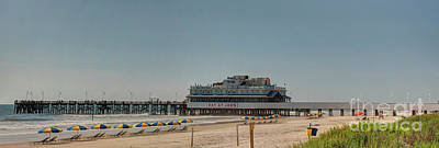 Photograph - Daytona Beach Pier Pano by Ules Barnwell