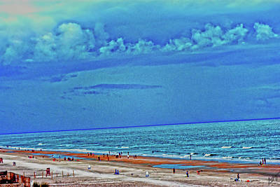 Photograph - Daytona Beach Rain Clouds by Gina O'Brien