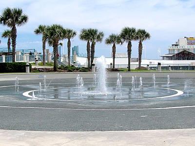 Photograph - Daytona Beach Splash Fountains  by Chris Mercer