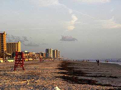 Seagull Photograph - Daytona Beach Sunrise  000 by Chris Mercer