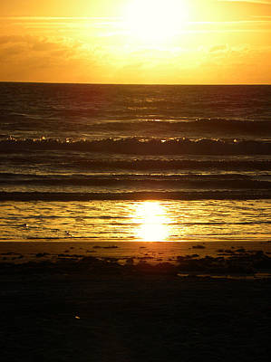 Photograph - Daytona Beach Sunrise by Chris Mercer