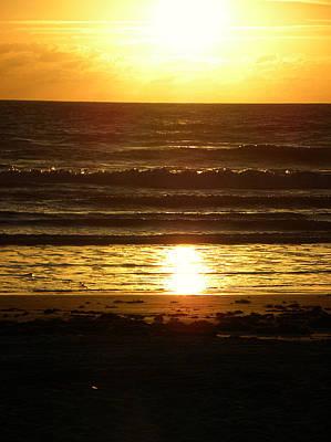 Photograph - Daytona Beach Sunrise by Chris Mercer