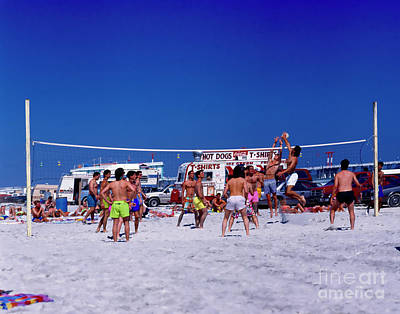 Photograph - Daytona Beach Volley Ball 2 by Tom Jelen