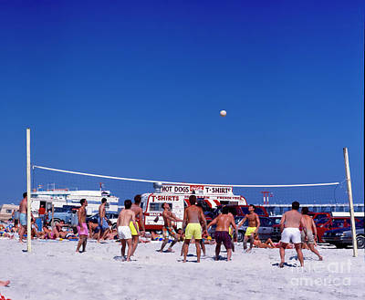 Photograph - Daytona, Beach, Volley Ball, Florida by Tom Jelen