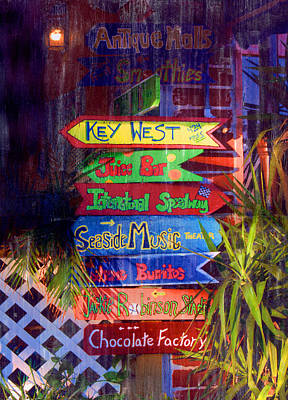 Mixed Media - Daytona Signs by Bob Senesac