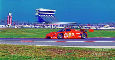 Photograph - Daytona Speedway Sun Bank 24hr Mazda Gtp by Tom Jelen