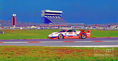 Photograph - Daytona Speedway Sun Bank 24hr Pontiac Firebird Gtp by Tom Jelen