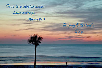 Photograph - Daytona Valentine Day With Text by Kay Brewer