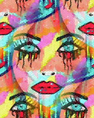 Portaits Mixed Media - Dazzle Them by Kathleen Sartoris