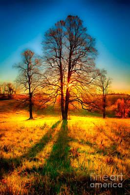 Painting - Dazzling Autumn Blue Ridge Sunrise Ap by Dan Carmichael