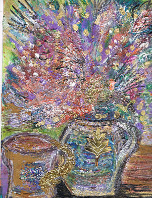 Dazzling Bouquet In Vase With Cup Original