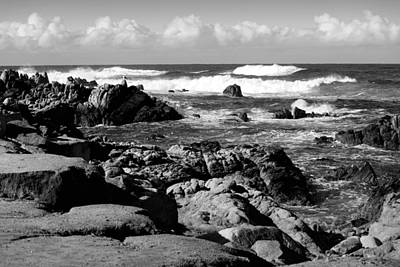 Photograph - Dazzling Monterey Bay B And W by Joyce Dickens