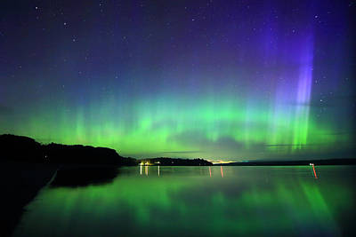 Photograph - Dazzling Northern Lights  by Barbara West