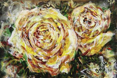 Painting - Dazzling Roses by Dariusz Orszulik