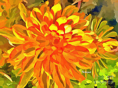 Digital Art - Dazzling Succulent by Linda Weinstock