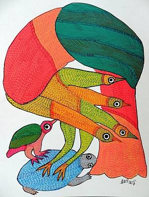 Gond Art Gallery Painting - Db 235 by Durga Bai
