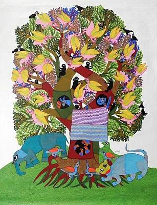 Gond Art Gallery Painting - Db 287 by Durga Bai