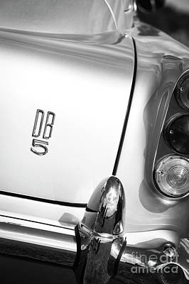 Aston Martin Db5 Photograph - Db5 Monochrome by Tim Gainey