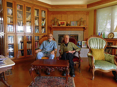 Photograph - Db6362 Ed Cooper With Fred Beckey In Library 2013 by Ed Cooper Photography