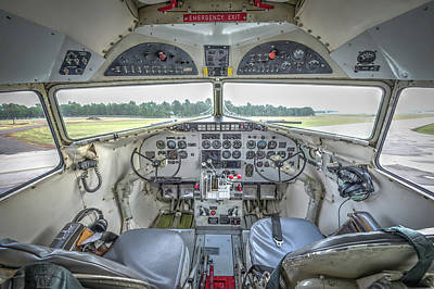 Photograph - Dc-3 Cockpit by Philip Rispin