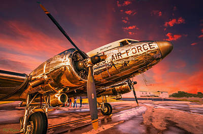 Surrealism Royalty-Free and Rights-Managed Images - DC-3 In Surreal Evening Light by Philip Rispin