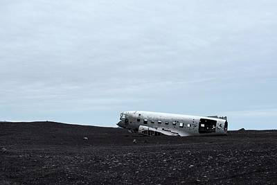 Print featuring the photograph Dc-3 Plane Wreck Iceland by Brad Scott