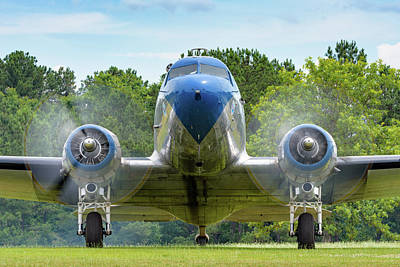 Photograph - Dc-3 With Two Turning   by Chris Buff