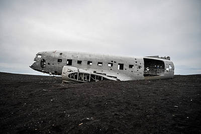 Photograph - Dc-3 Wreck On The Solheimasandur by Alex Blondeau